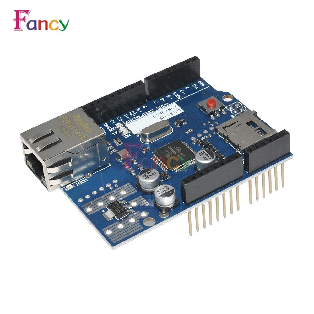 1Pcs Lan Ethernet W5100 R3 Shield Module Micro-SD WizNet W5100 TCP/IP Network Development Board For Arduino UNO Duem Mega 2560