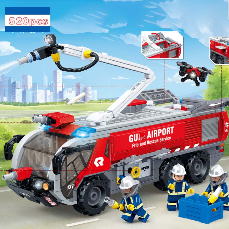 Military Series City Fire Series Fire Rescue Truck Tank Helicopter Fire Ambulance Toys For Children Gifts Compatible Legoings