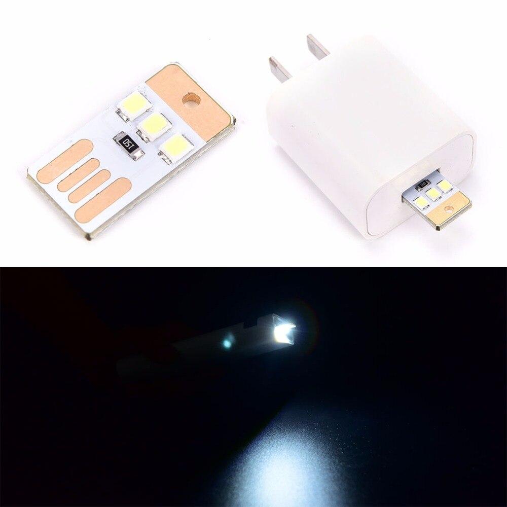1pcs Portable Mini Led Lamp Usb Power Led Light 3 Led Touch Dimmer Lamp White Laptop LED Light Novelty Lighting