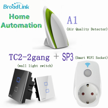 2016 Broadlink WIFI Swap SP3 EU+Sensible Air Detector A1+Wall Mild Swap TC2 Distant Management Sensible Dwelling Automation IOS Android