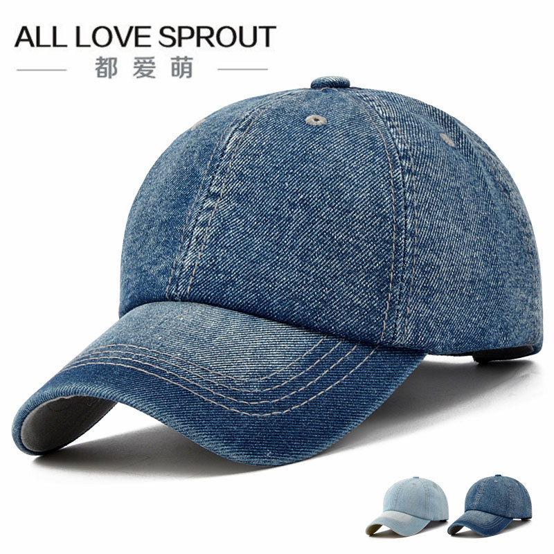 2017 denim hat  Solid color men and women spring and summer autumn baseball hat Korean version of the tide fashion leisure light 2017 of the latest fashion have a lovely the hat of the ear lovely naughty lady s hat women s warm and beautiful style