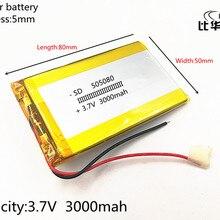 1 шт./лот 3,7 в 3000 мАч 505080 литий-полимерный Li-Po Li ion Перезаряжаемые Батарея клетки для Mp3 MP4 MP5 Игрушка Мобильный bluetooth