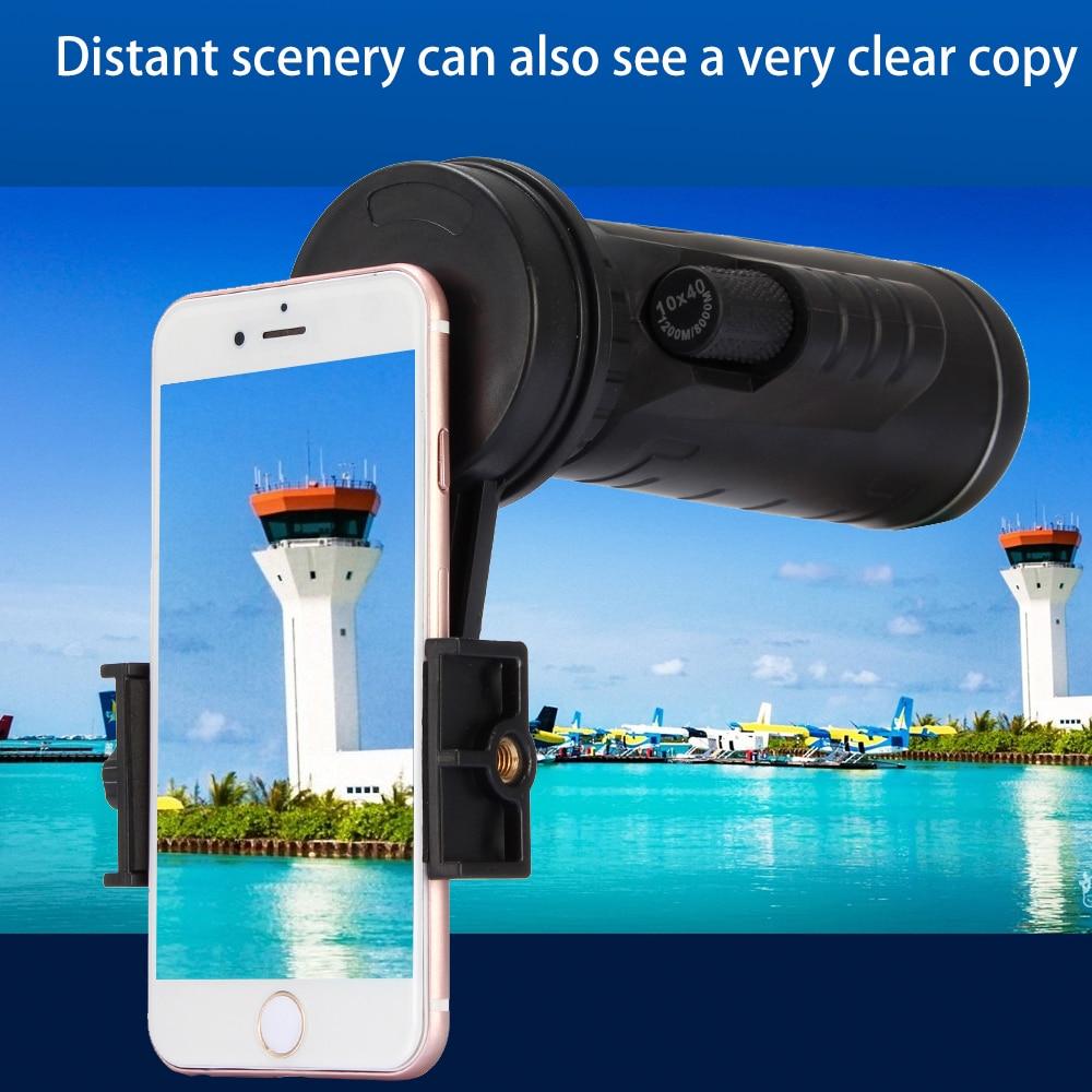bilder für Universal 10x40 Wandern Concert Kamera Objektiv Monokulare Zoom Objektiv-telefon-teleskop-kameraobjektiv Handyhalter + Clip Für Smartphone