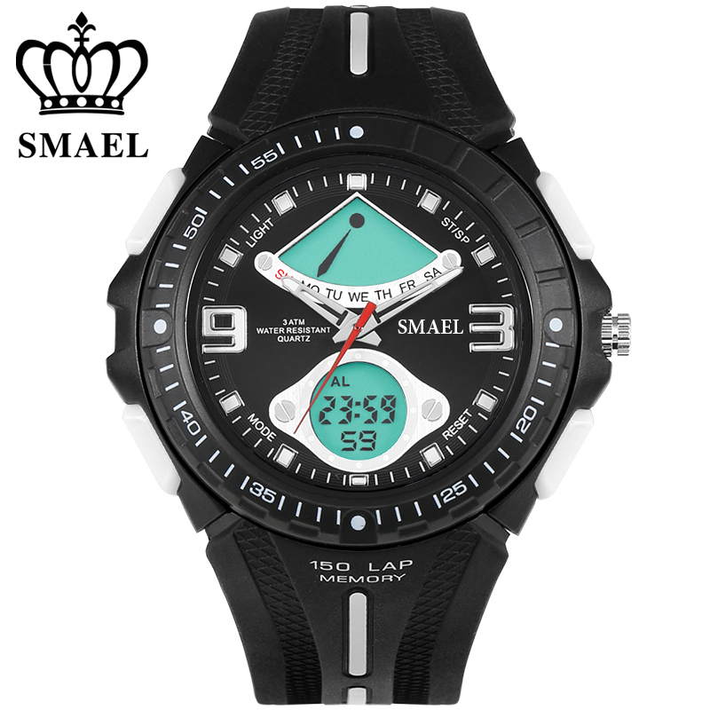 Mens WatcheTop Brand Luxury SMAEL Watch Men 30m Waterproof LED Quaetz watch Sport Wristwatch reloj hombre