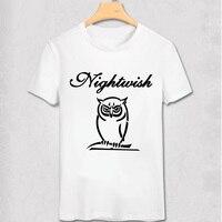 높은 품질 nightwish 락 브랜드 셔츠 mma 피트니스 무거운 금속 밤 올빼미 100% 면 짧은 소매 인쇄 고딕 티셔