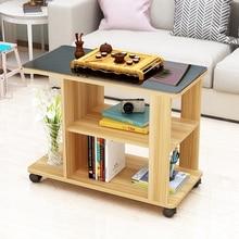 Современный минималистичный диван боковой гостиной мобильный мини кунг-фу Маленький журнальный столик из закаленного стекла длинный угловой стол