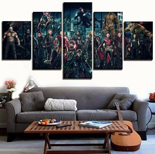 Modular Painting Wall Art Picture Home Decor 5 Pieces 2018 Movie Avengers Infinty War Superheroes Canvas Printed Poster