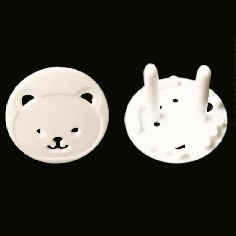 Медведь розетка европейского стандарта электрическая розетка защиты детей Детская безопасность анти электрическим током вилки Защитная крышка