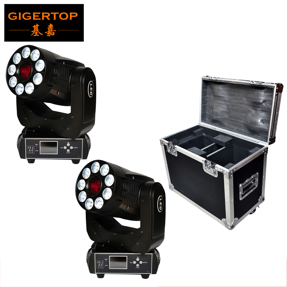 2IN1 Flightcase Packing 1x75W Spot + 9x12W Wash Led Moving Head Light 2IN1 Function Rotation Gobo Wheel/Color Wheel CE ROHS discount price 2 pack 200w led moving head spot wash 2in1 light 75w white 9 12w rgbwa purple leds mini rotate gobo color wheel