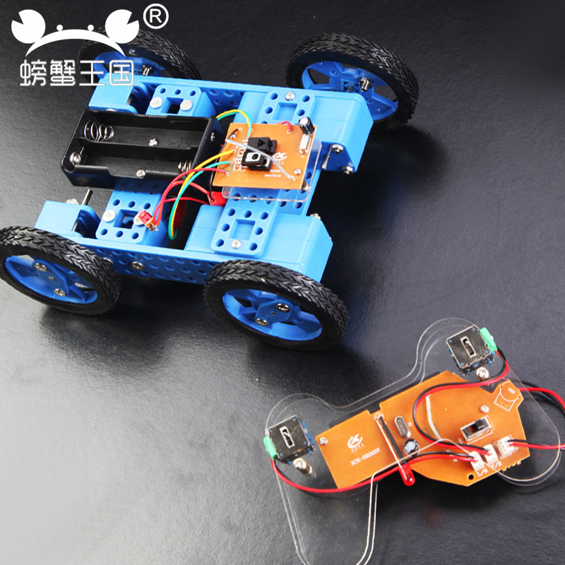 PW M71 DIY Mini Car Model with Remote Controller Gear Motor Technology Invention Funny Puzzle Education Car Toy diy toy car j473b model 7575 n20 gear motor intelligent model car diy assemble small car technology making free shipping russia