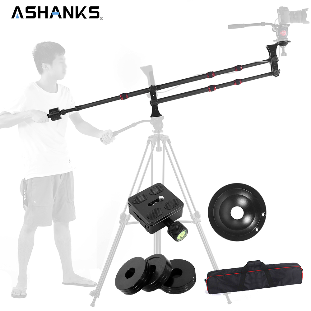 Ashanks Carbon Fiber MINI jib crane Portable Jib Arm for Photography Tripod / DSLR Video Camera Standard Version+Bag Load 10KG professional dv camera crane jib 3m 6m 19 ft square for video camera filming with 2 axis motorized head