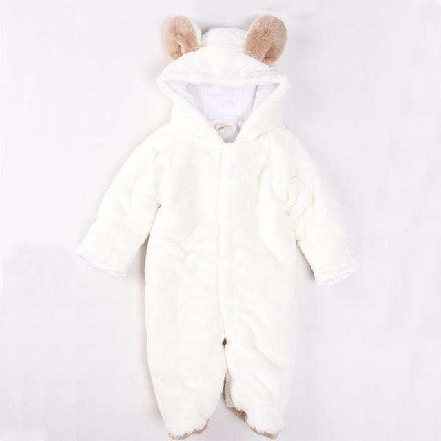 deafe4a4ef0a Baby Jumpsuit Animal Shape Quilted Padded Winter Romper Bundles Feet ...