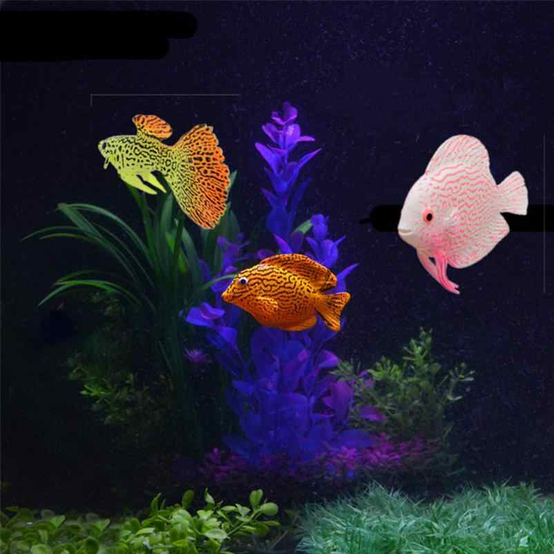 Clownfish Aquarium Plastic Swimming Faux Fake Gold Fish Aquarium Artificial Aquarium Fish Tank Decor Orname Gift Accessories
