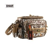Kingdom fishing Waterproof Fishing Bag Multifunctional Outdoor Adjustable Sided Waist Shoulder Carry Strap Waist Pack lyb-13