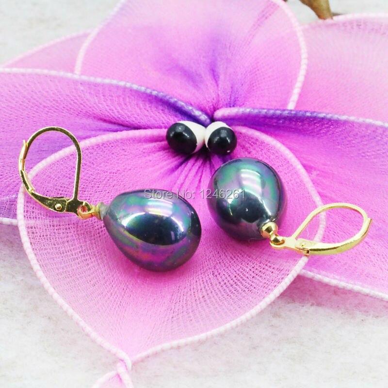 947f59eab6ef Alta calidad Natural de concha de perla pendientes aretes agua lágrimas  boda DIY mujeres regalos de joyería de diseño 12 x 16mm
