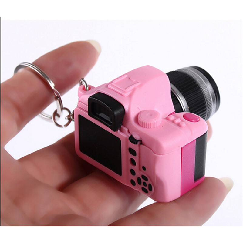 Eva2king LED Luminous Sound Glowing Camera Car Key Chain Kid Digital Plastic Cam