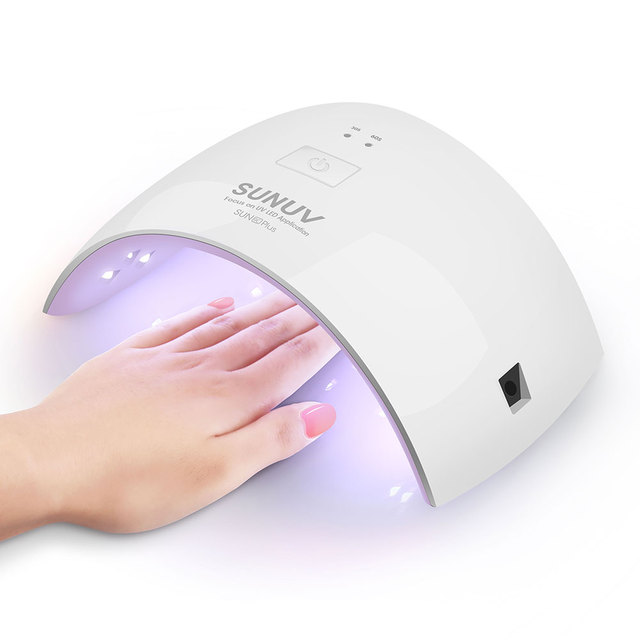 SUNUV SUN9c Plus 36W UV LED Nail lamp 18 LEDs Nail dryer for All Gels with 30s/60s button Perfect Thumb Solution