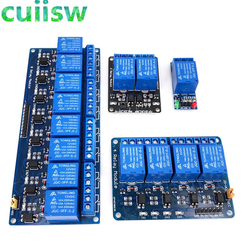 DC 5V Relay Module with Optocoupler Low Level Trigger Expansion Board for relay module for arduino 1 2 4 8 CH
