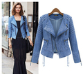 2015 Spring Summer New Vintage Blue Short Jacket Denim Fashion Warm Outwear Zipper Women Jeans Jacket Coat S,M,L,XL
