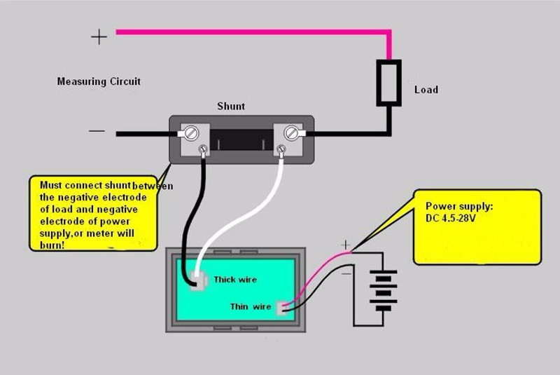 4pcs digital ammeter current ampere meter dc 0 10a 20a 50a 12v 24v rh aliexpress com