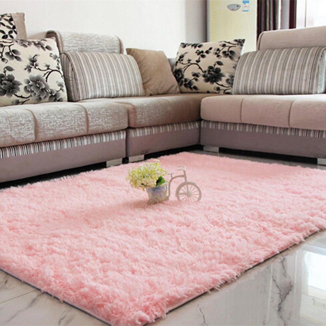 90*160cm Anti Skiding Floor Mat Fluffy Blanket Fashion Mat Bedroom Nonslip  Lounge Cushion
