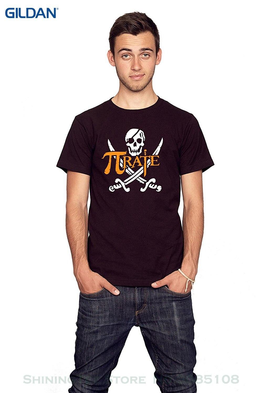 GILDAN Mens T Shirts Fashion 2017 Rocket Factory Pirate Pi Symbol Math T-shirt