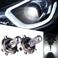 2pcs Car Styling H4 Super Bright Led 8SMD Bulb Car Fog Head Lamp Light DRL Daytime