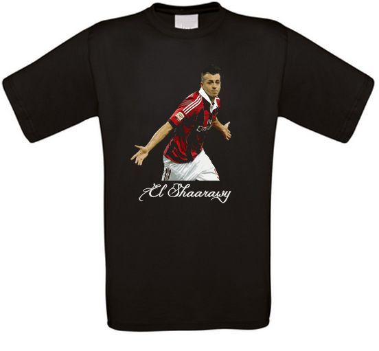 Stephan El Shaarawy Milan Italie MONACO ROSSONERI T-shirt toutes les tailles O-Neck Fashion Casual High Quality Print T Shirt