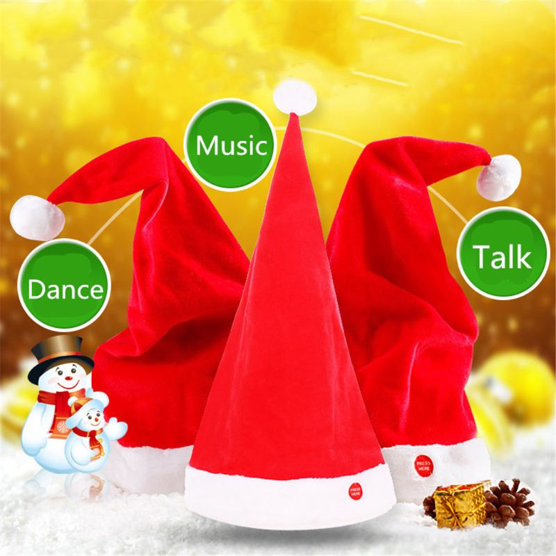 Mother & Kids Devoted Magic Singing Dancing Talking Santa Hat For Adults Kids Christmas Toys Party Toy Activating Blood Circulation And Strengthening Sinews And Bones Accessories