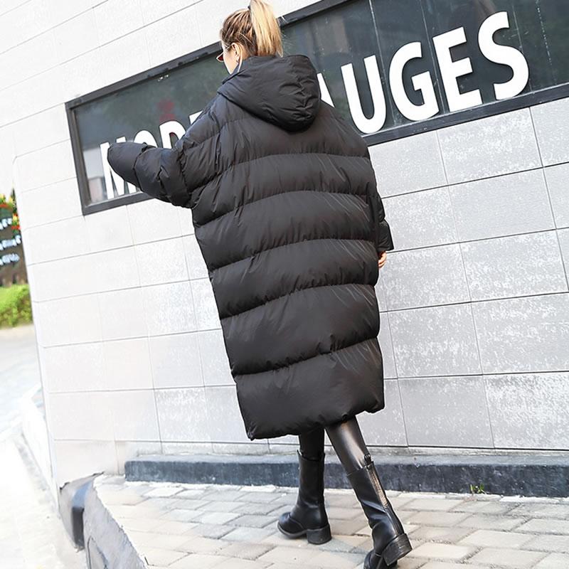 2018 Mode Automne Manches Plein Parka xtao Ljt4621 Roulé Arrivée Nouvelle Patchwork Casual Col De Poche Black Corée Tricoté Femmes YSEqRSg