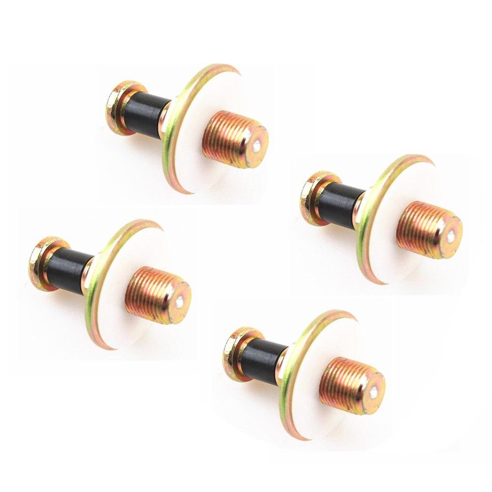 ZUCZUG 4x Door Lock Striker Pins Screw Nuts Bolts For VW Golf Polo Jetta Passat Scirocco Transporter A80 Seat Toledo 357 837 034