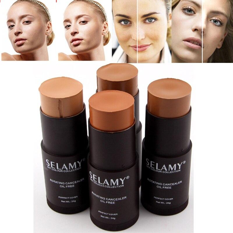Stick Foundation Concealer Primer Bronzer Makeup-Face Moisturizer Full-Cover Hide Lemish