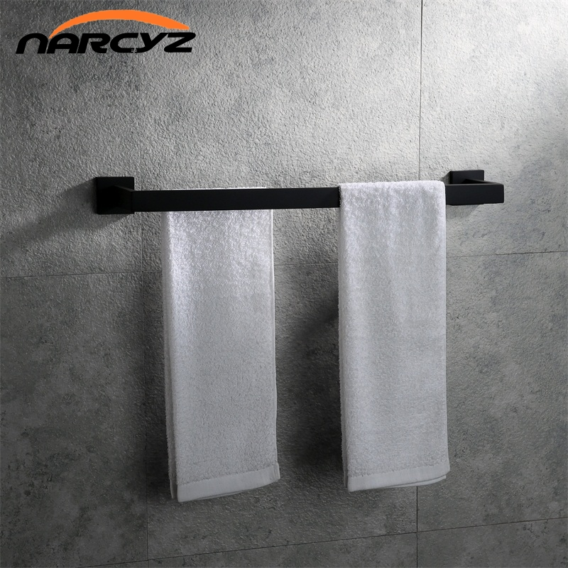 New Style Stainless steel bathroom towel rack bathroom double towel rack hardware pendant Wall mount Bathroom accessories 9156K sayoon dc 12v contactor czwt150a contactor with switching phase small volume large load capacity long service life