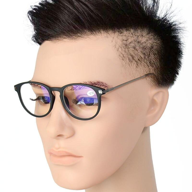 Transparent frauen Computer Lesebrille Männer Von Ansicht männer Brille Zum Lesen Mit Dioptrien Weitsichtigkeit Anti Blueray 0 2