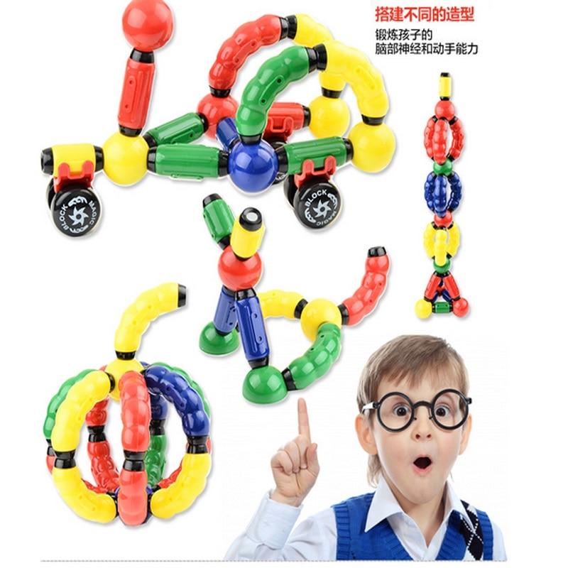 big size magnetic sticks toy educational baby magnetic building block figure toy 60pcs 80pcs set