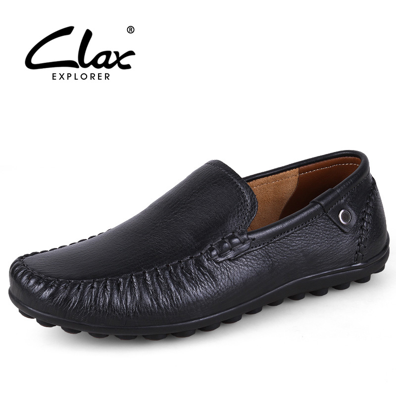 CLAX Men Moccasin Genuine Leather Spring Summer Autumn Casual Shoe Slip on Male Loafer Flat Driving Footwear Soft manitobah мокаксины sunshine moccasin женские бежевый