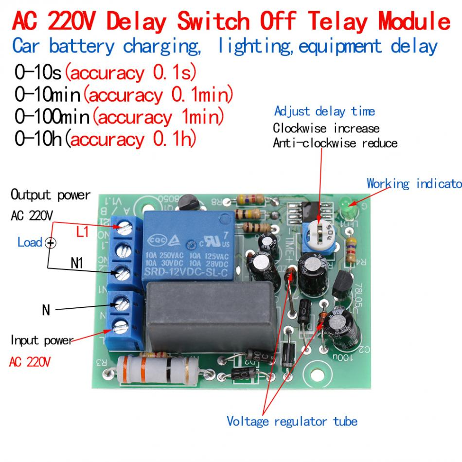 Ac 220v Relay Module Switch Trigger Time Delay Circuit Timer Cycle W Vehicle Electrical 12v Getsubject Aeproduct