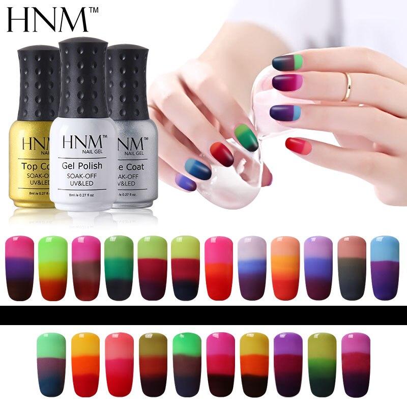 HNM Color Change Gel Nail Polish Temperature Nail Gel