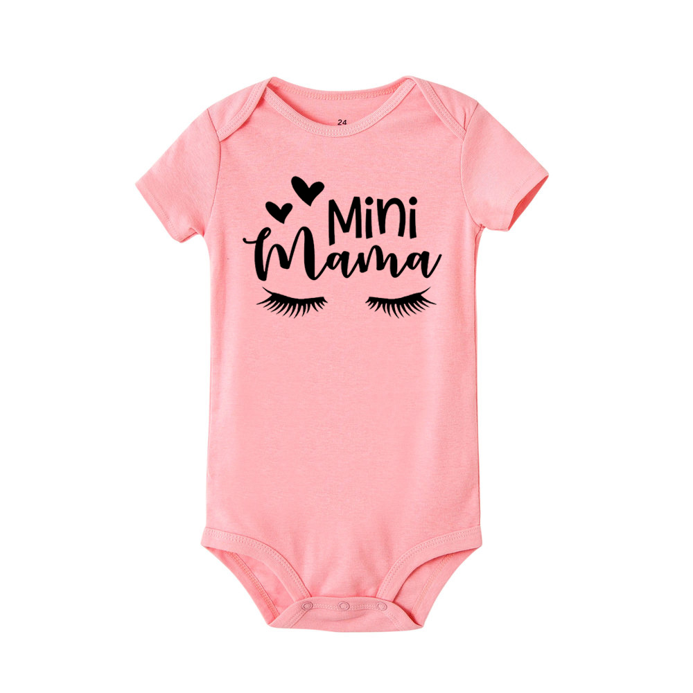 Mama's Mini Me Newborn Infant Baby Girls 2018 New Romper Short Sleeve Jumpsuit Outfits Summer Sunsuit Clothes 0-24M