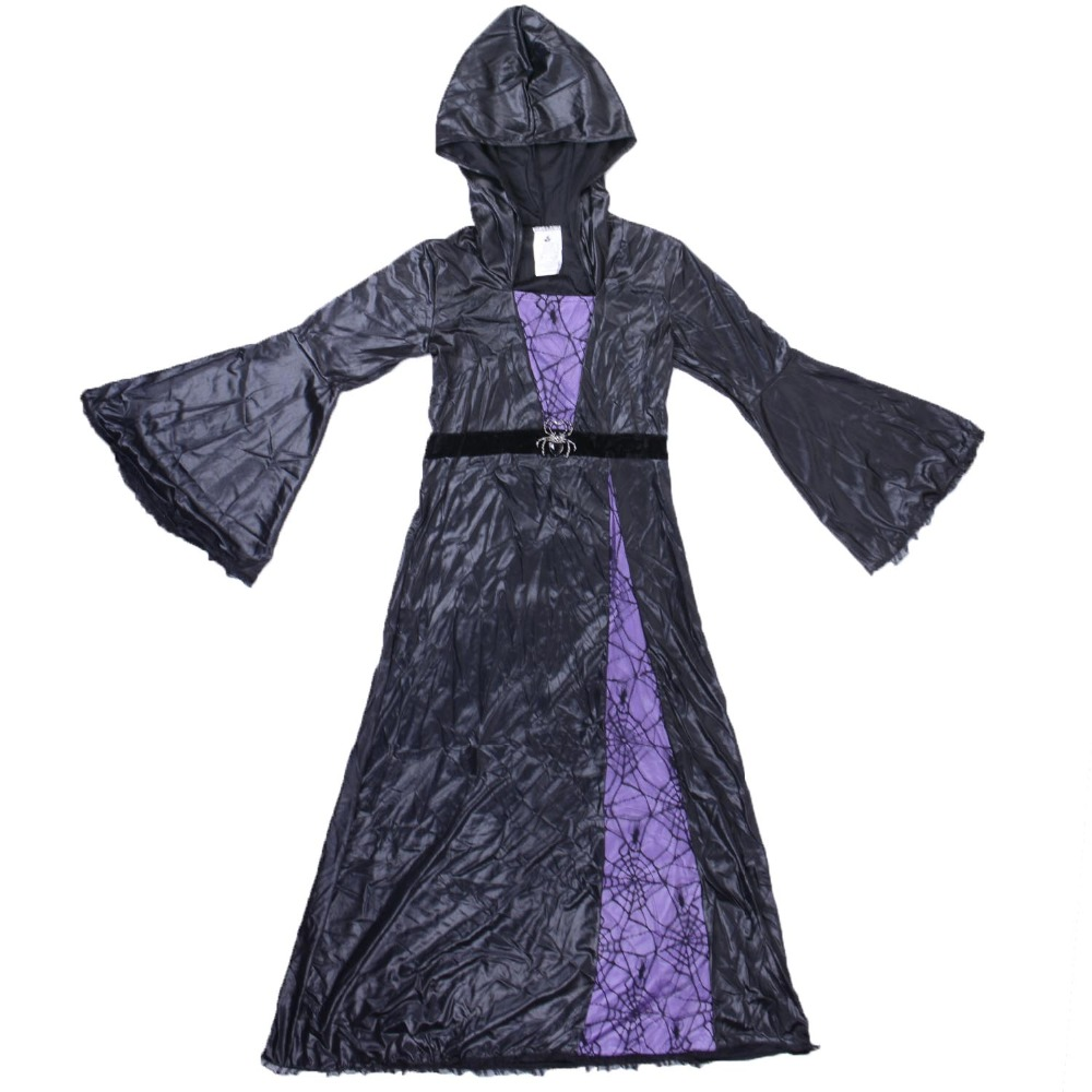 Spider Sorceress Costume Adult Women Deluxe Flare Sleeve Black and ...