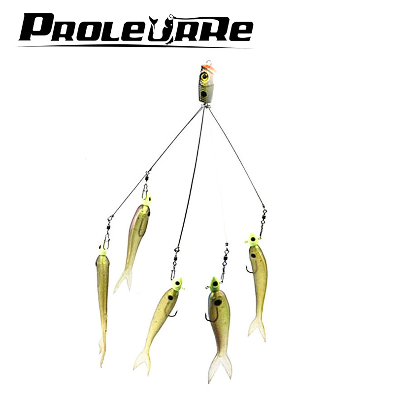 1Pcs High Quality 17cm 3D Fishing Bait High Quality Fishing Lure Alabama Rig Stainless Snap Swivel Fishing Tackle Group YR-137