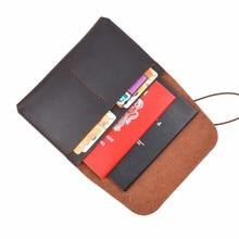 New Arrivals 100% Echt Leer Paspoort Cover Solid Credit Kaarthouder Vintage Mannen Vrouwen Paspoort Case Business Travel Wallet
