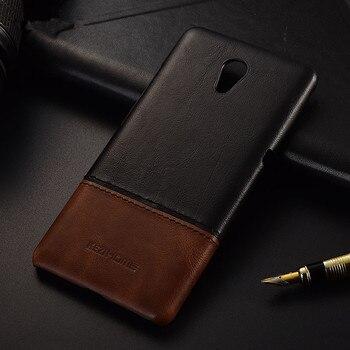 Lüks marka ince vintage hakiki deri arka kapak kılıf Için Lenovo P2 telefonu kılıfları ve kabuk