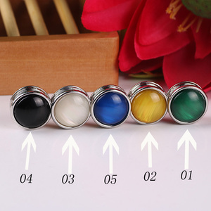 Image 5 - 12pc Classic Round Magnet Brooches Unisex Scarf Jewelry Acessories Muslim Headscarf Buckle Women Hijab Jewelry Opal Brooches