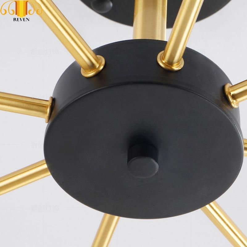 REVEN Oro Nero Moderne luci a sospensione per la sala da pranzo LED G4 lampadina - 2