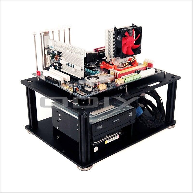 QDIY PC D008 PC Excelent Cool Personality Black Acrylic ATX PC Desktop Computer Case