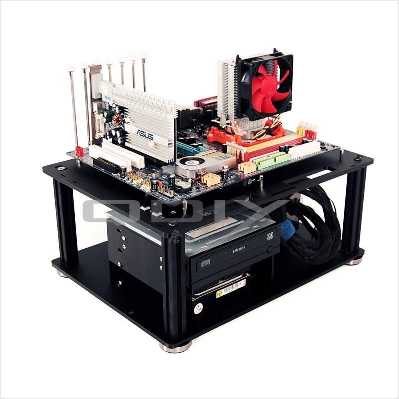 QDIY PC-D008 PC превосходный крутой персональный черный акриловый ATX PC Настольный чехол для компьютера