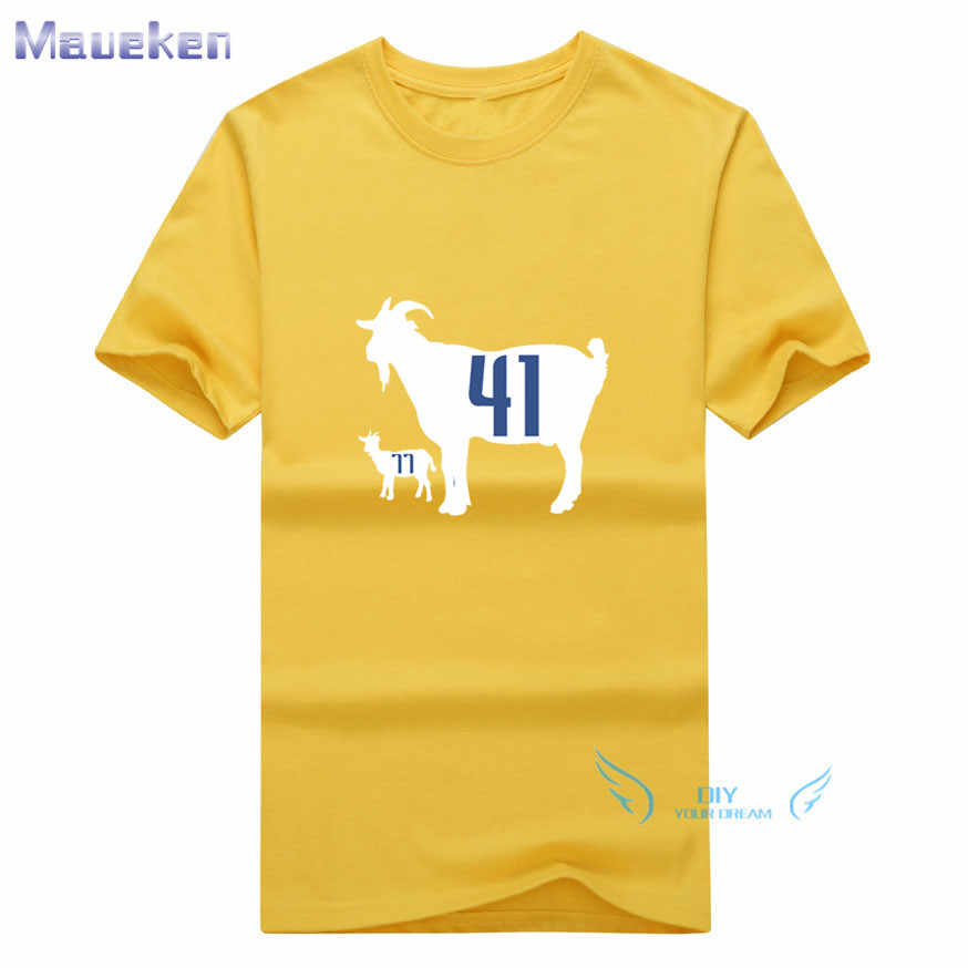 65884d147 ... 2019 Summer The Goat Dirk Nowitzki and Luka Doncic 100% cotton funny t  shirt for