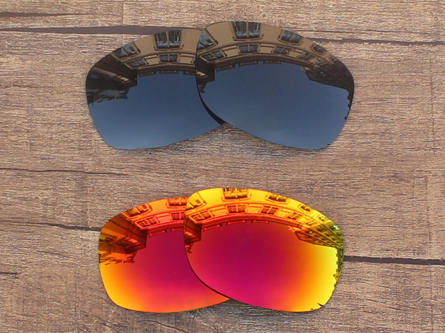 77c0d79969d2 Black Grey   Fire Red 2 Pairs Polarized Replacement Lenses For Sideways Sunglasses  Frame 100% UVA   UVB Protection