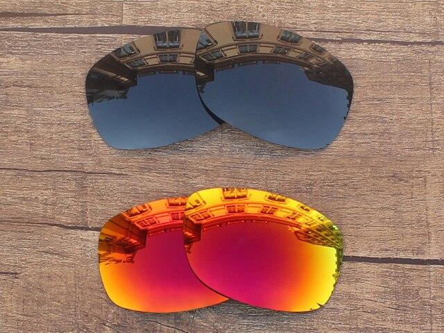 Black Grey   Fire Red 2 Pares Polarized Lentes de Reposição Para Sideways Óculos  De Sol bb3c712f84